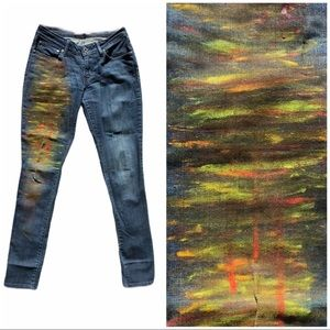 LEVIS Handpainted Bold Curve Mid Rise Skinny 27
